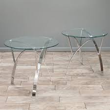 best ing home decor marin round glass end table set of 2 lowe s canada