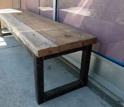 reclaimed wood bench for starbucks antique oak w black iron frame reclaimed wooden bench u16 reclaimed