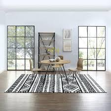 haku geometric moroccan tribal 8x10 area rug contemporary modern black and white area rug 8x10 black
