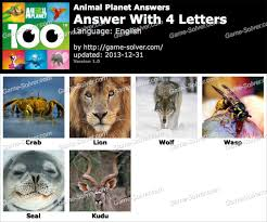 Animal Planet 4 Letters