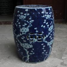 blue and white jingdezhen garden porcelain drum stool ceramic stool for dressing table chinese blue ceramic