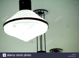 First Light First Track First Light In A Row Of Ceiling Lamps Stock Photo 17018828
