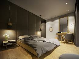 Modern Gray Bedroom Contemporary Home Design Ideas Arranged With A Gray And Wooden
