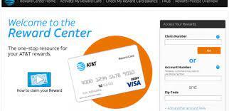 at t reward center claim number