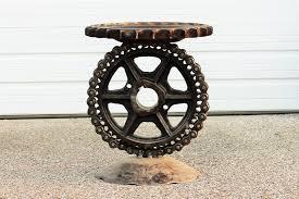 steam punk furniture. Custom Made Sculptural Metal Pedistal Industrial Steampunk Outdoor Furniture Steam Punk M