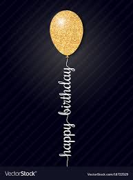 Happy Birthday Card On Black Background Royalty Free Vector