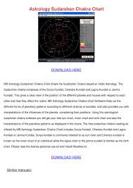 Astrology Sudarshan Chakra Chart By Joeygabbard Issuu