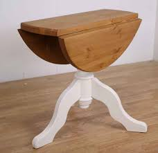 small round drop leaf table