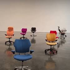 Gallery office floor Studio Nine Office Chairs Each In Dazzling Jewel Tone Swirl And Scuttle Across The Reflective Floor Of Gagosians West 21st Street Gallery Colossal Modified Office Chairs Perform An Autonomous Dance Through Gagosian