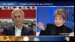 Marco Travaglio, Jasmine Cristallo, Francesco Borgonovo e Massimo Franco.  Otto e Mezzo del 22/01/20