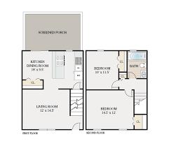 2 bedroom townhouse 1 bathroom 1550 sq ft