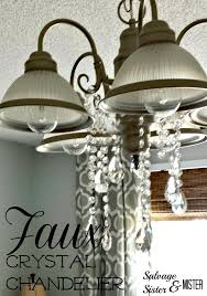 faux crystal chandelier standard light fixture turned into a faux crystal chandelier light fixture idea faux faux crystal chandelier