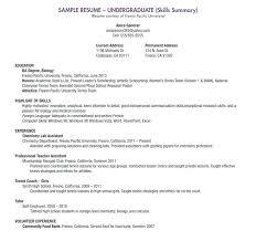 Resume Language Skills Language Skills Resume Sample