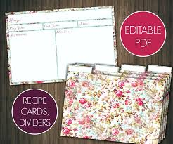 Index Card Recipe Template Index Card Template For Pages Free Printable Home Organizer