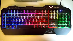 Havit <b>Rainbow LED Backlit</b> Gaming Keyboard - YouTube