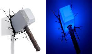 Thor Hammer 3d Wall Light 3d Deco Wall Light Thor Hammer Led Wall Lights Lighting