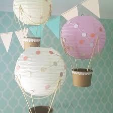 whimsical hot air balloon decoration diy kit nursery decor uni baby shower hot air balloon travel theme nursery set of 3