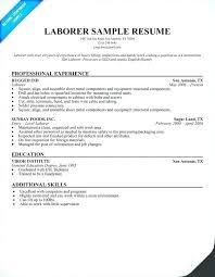 General Labourer Job Description For Resume