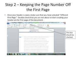 Adding Mla Format Page Numbers To A Word Document Ppt Download