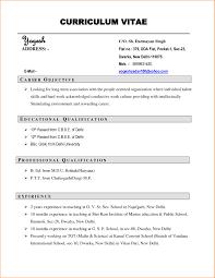 Format For Job Resume Free Download 11 Curriculum Vitae Sample Job