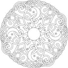 Coloring Pages Of The Moon The Sun And The Moon Mandala Coloring