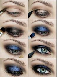 smoky eyes makeup tutorials black and blue