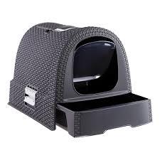Grey Basketweave Litter Box