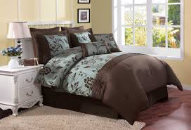 brown bed comforter sets teal turquoise brown bedding bedroom decor