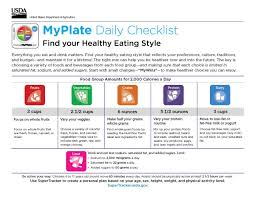 Find Your Healthy Eating Style W The Myplate Daily Checklist