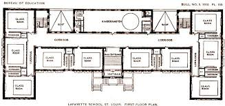 school floor. Lafayette-school-floor-plan-american-schoolhouses-fletcher-dresslar School Floor