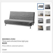 preloved ikea sofa bed with mattress