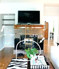 how to mount a tv on a brick fireplace can you mount a above a brick