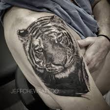 Jeffchew Tattoo Black Amd Grey Tiger Tattoo Cover Up Facebook