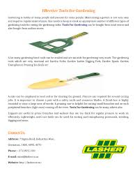 title effective tools for gardening