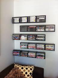 Space Saving Dvd Storage 2 Black Lerberg Cd Dvd Rack Shelf Wall Mount Metal Steel Material