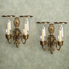 nerissa antique brass double wall sconce pair nerissa double sconce touch to zoom