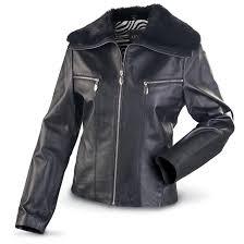 women s adler leather jacket black