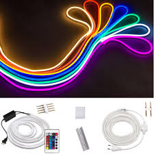 Rgb Rope Light Us 5 8 31 Off 220v Flex Led Neon Rope Light Rgb 1m 5m 10m 25m 50m 100m Indoor Outdoor For Holiday Party Valentine Decor Red Blue Yellow White In Led