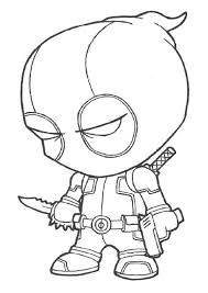 Coloring Pages Deadpool Coloring Book Cover Characters Deadpool