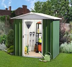 yardmaster green metal shed 65geyz