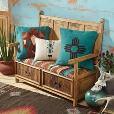 Living Room  Traditional Decorating Ideas Library Storage Southwestern Design Ideas