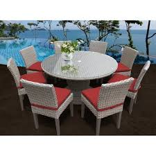 tk clics oasis 9 piece dining set with cushions color