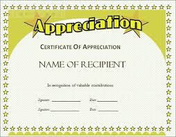 free recognition certificates certificates incredible free certificate of appreciation