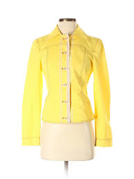 Details About Philosophy Di Alberta Ferretti Women Yellow Jacket 4