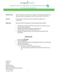 Cerner Charting Inpatient Cerner Navigation And Documentation For Nursing