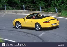 Car, Porsche 911 Carrera Convertible, model year 2001-, yellow ...