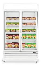 Stand Up Display Freezer Prodis XD100NW double glass door upright display freezer matching 65