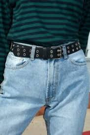 brandy melville black faux leather grommet belt NWT one size | eBay