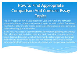 title ideas for compare and contrast essays topics power point  fresh ideas for a compare and contrast essay title