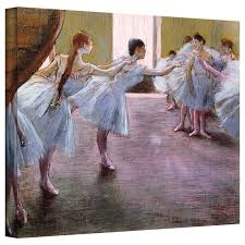 rs at rehearsal by edgar degas painting print on wrapped canvas